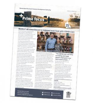Front cover image of the May 202 edition of QRIDA's Prime Focus newsletter